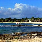 Der Strand von Paamul.