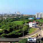 """Blick von unserem """"zweiten Hotel"""" auf Cartagena."""