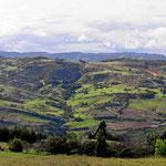 Die Landschaft auf der Rückfahrt nach Sogamoso.