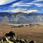 Blick auf das Randgebirge des Death Valley.