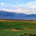 Der Lago de Yojoa. Der größte See Honduras. Leider ist es wie gewohnt sehr trübe.