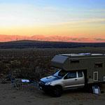 Unser Übernachtungsplatz im Tal zum Death Valley
