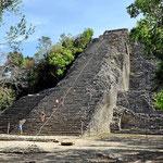 Die höchste Pyramide von Coba.