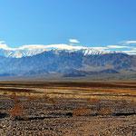 Das Death Valley mit Schnee.