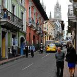 Die Altstadt von Quito.
