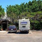 Unser Stellplatz an der Marina bei Belize City.