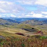 Das Hochland um den Chimborazo im Nationalpark. Wir sind auf 4000 m Höhe.