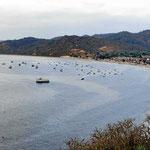 Der kleine Fischerort Salango bei derf Hosteria Islamar.