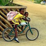 Das Fahrrad, das übliche Transportgefährt.