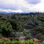 Fahrt durchs bergige Kaffeeland um San Jose/Alajuela herum.
