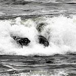 Paarlaufen beim surfen.