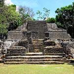 Und das ist die Pyramide komplett, mit zwei Göttergesichtern.