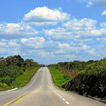 Anreise durch die Yukatan-Halbinsel.