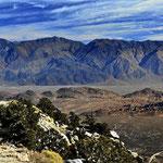 Fahrt vom Mount Whitney in Richtung Death Valley.