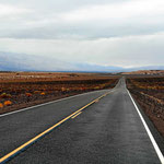 Wir haben Glück, Regen im Death Valley.