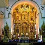 Der einzige Goldschaltar aus den Kirchen von Panama City, der die Raubzüge der Piraten überlebt hat.