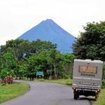 Und da ist der Vulkan Arenal in seiner ganzen Schönheit.