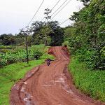 Der Weg zum Nationalpark Tenorio ist teilweise recht holperig.