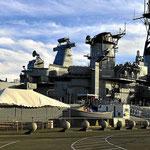 In Long Beach liegt ebenfalls ein Schlachtschiff vom Ende des 2. Weltkrieges.