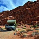 """Solche """"Sites"""" haben die staatlichen Campingplätze in den USA, da macht auch zeltgen Spass."""