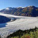 Der Salmon Gletscher, der 6-größte Gletscher in Nordamerika.