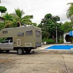 Unser Stellplatz an der Villa Alejandra.