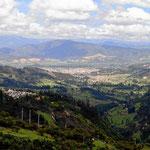 Auf der Fahrt zur Laguna - Rückblick auf Sogamoso