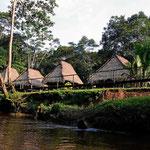 Da ist die Guyabeno River Lodge.