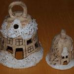 winterliche Glocken aus Ton
