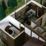 となりのトトロ「サツキとメイの家」台所と五右衛門風呂