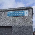 Lady's Lane Sign