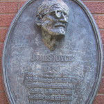 a commemorative plaque of James Joyce