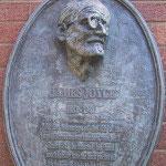 a commemorative plaque of James Joyce