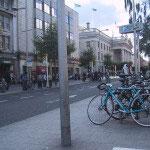 ダブリン市内での自転車の駐輪方法