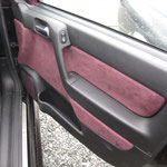 Türverkleidung bezogen mit Leder/Alcantara vordere Türen