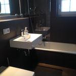 Bad im Obergeschoss, Dusche in der Wanne