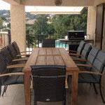 Terrasse mit Küchenzugang, 2 Markisen, Beleuchtung