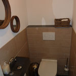 Separate toilet in the ground floor