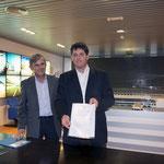 Luis Utrilla signe la convention avec MDA