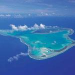 Anflug auf Aitutaki