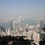 Hong Kong (2013) vom Peak auf Central, Hafen und Kowloon (Tsim Sha Tsui)