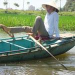 Fuß-Ruderer in Nordvietnam