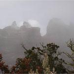 Gipfel des Mount Kinabalu in Borneo (4.100 Meter)