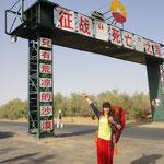 Tramperin aus Guangdong (Taklamakan-Wüste)