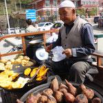 Uigurischer Verkäufer, Xinjiang, China