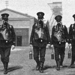 Grubenwehr Rheinelbe mit Westfalia-Mundatmungsgeräte 1921