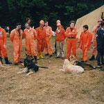 Hundestaffel aus Wesel mit 7 Hunden