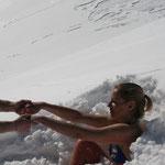 Sortie après 1 heure d'enneigement - mars 2014 - Vétan, Alpes italiennes