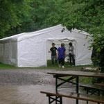 Das Zelt hatten wir ganz für uns allein.