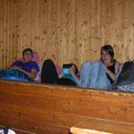Bezug des Schlaflagers am Freitag